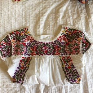 Madewell Colorful Embroidered Blouse